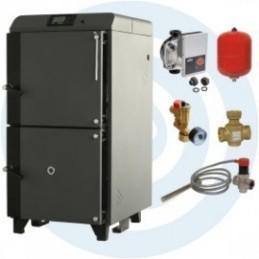 ECOMAX EASY 24KW com acessórios - Caldeira a Lenha Chama Invertida - SOLIUS