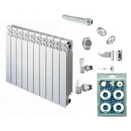 Kit 100 Elementos radiador PROTEO - Comando manual