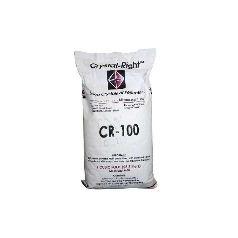 Média Filtrante Crystal Right CR 100 ( Sacos 28.3 Litros )