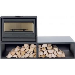 BACK BOX DUO 11KW - Salamandra ventilada - SOLZAIMA