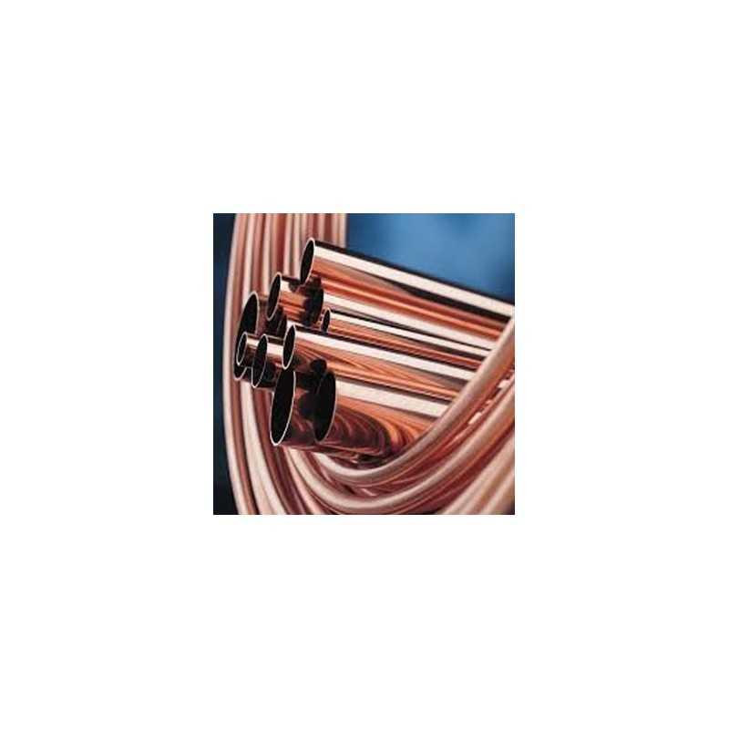 COBRE 12X1mm (50MT) - Tubo Cobre Rolo Nu - SANCO