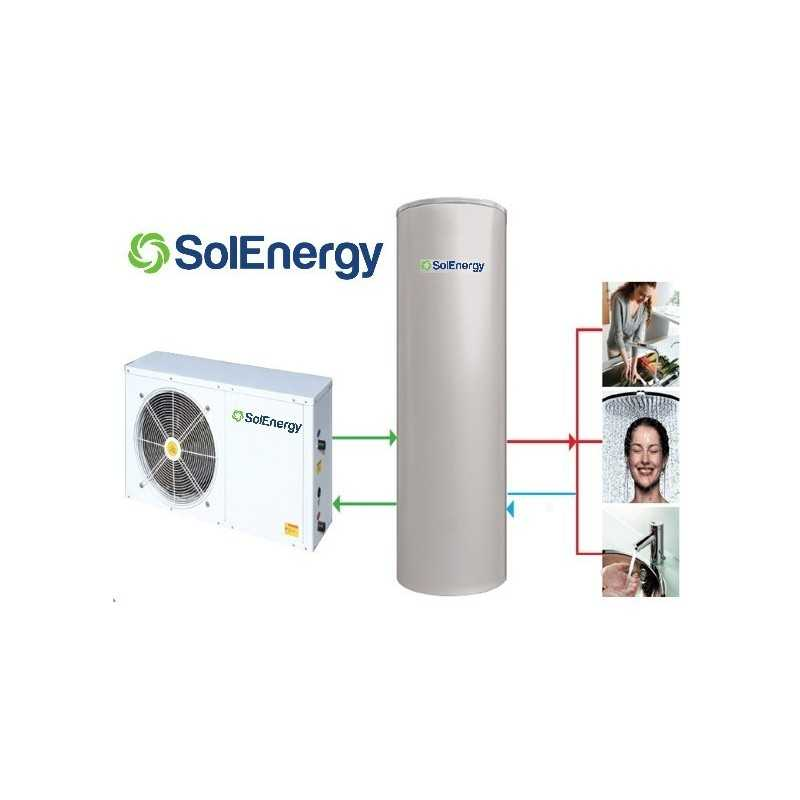 SPLITAQS 320 - Bomba Calor AQS - SOLENERGY