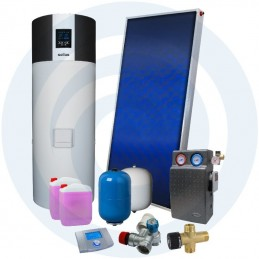 ECOTANK SUPER 200L + SUPERSOL - Kit Bomba Calor + Solar - SOLIUS